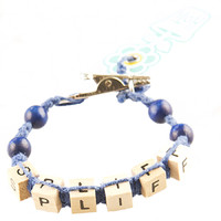 HOTI Hemp Handmade Spliff Blue Hemp Square Wood Cube Alphabet Brown Natural Beads Blue Round Bead Mens Womens Ladies Unisex Word Up Bracelet Hand Crafted Made in Toronto Made in Ontario Made in Canada Beaded Wood Beads Square Beads 420 Alligator Clip Roach Clip Marijuana Cannabis Clip It Clip Toronto Ontario Canada Canadian