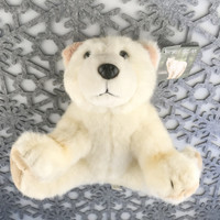 "Stuffed Animal House 10"" Kermode Spirit Bear British Columbia Canada Rare Coastal Rainforests Golden Yellow Soft Wildlife Cuddly Cute Adorable Canadian Wild Plush Toy SPB-01"
