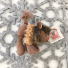 "Stuffed Animal House 2.75"" Standing Brown Buffalo Keychain Wild North American Realistic Zipper Pull Mini Key Chain Tiny Soft Furry Fuzzy Clip Backpack Critter Wildlife Canada Soft Plush Toy WK-07A Side"