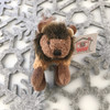 "Stuffed Animal House 2.75"" Standing Brown Buffalo Keychain Wild North American Realistic Zipper Pull Mini Key Chain Tiny Soft Furry Fuzzy Clip Backpack Critter Wildlife Canada Soft Plush Toy WK-07A Front"