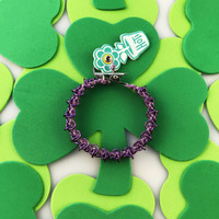 HOTI Hemp Handmade Light Metallic Purple Chain Link Maille Ladies Womens Chainmaille Linked Chains Bracelet Made in Canada Hand Crafted Made in Toronto Made in Ontario Celtic Medieval Valentine Halloween Clip-It 420 Marijuana Cannabis Alligator Clip Clasp Roach Clip Rock Toronto Ontario Canada