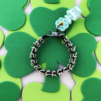 HOTI Hemp Handmade Black White Chain Link Maille Ladies Womens Chainmaille Linked Chains Bracelet Made in Canada Hand Crafted Made in Toronto Made in Ontario Celtic Medieval Valentine Halloween Clip-It 420 Marijuana Cannabis Alligator Clip Clasp Roach Clip Rock Toronto Ontario Canada