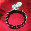 HOTI Hemp Handmade Black Silver Metal Chain Link Maille Mens Men's Chainmaille Linked Chains Bracelet Made in Canada Hand Crafted Made in Toronto Made in Ontario Celtic Medieval Valentine Halloween Clip-It 420 Marijuana Cannabis Alligator Clip Clasp Roach Clip Rock Toronto Ontario Canada