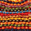 HOTI Hemp Handmade Red Hot Wood Bead Green Purple Light Blue Yellow Orange Brown Red Black Blue Hemp Beaded Mens Men's Unisex Twisted Spiral Knotted Necklace Collection Single Strand Beads Hand Crafted Made in Toronto Made in Ontario Made in Canada Toronto Ontario Canada Canadian Made