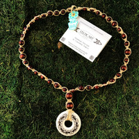 HOTI Hemp Handmade Horses Celtic Art Annulus Fine Porcelain Horse Pendant Donut Brown Wood Bead Natural Hemp Beaded Ladies Women's Collection Knotted Long Necklace Y Shaped Touchstone Pottery Spiral Twisted Hand Crafted Made in Toronto Made in Ontario Made in Canada Boho Chic Beaded Toronto Ontario Canada Canadian Made