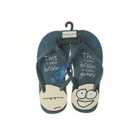 Be As You Are This Is You Brain on Video Games Blue Flip Flops Mens Thong Sandals Men's Shoes