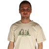 Life is Good Peace Out Cream Men's Tee Good Karma T-Shirt Jake Trees Forest Outdoors Organic Mens Top Zoom