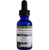 Aldaron Essences' Focus flower essence blend for dogs. Improve attention and focus in distracting show, training, or living environments!