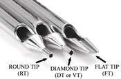 Electrum Traditions Individual Steel Tattoo Tips - Assorted Tattoo Needle Sizes inc 3RL 5RL 7RL 9RL, etc. tattoo needles.
