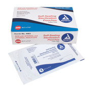 "Self-Sealing Sterilization Pouches, 5 1/4"" by 7 1/2"", Box of 200"