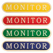 MONITOR ENAMEL BAR BADGE