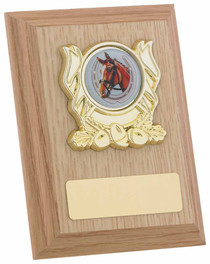 LIGHT OAK FINISH PLAQUE