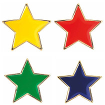 STAR ENAMEL HOUSE BADGE