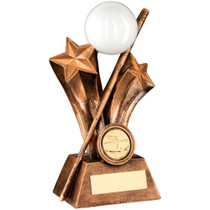 SNOOKER AND POOL CUE WITH BALL AWARD