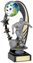 ANTIQUE SILVER STRIKER FOOTBALL AWARD