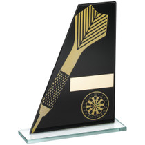Black and Gold Glass Darts Award
