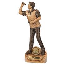 Male Bullseye darts trophy award