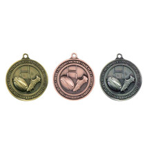 Rugby 60mm 3D Medals gold silver bronze cheapest price