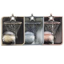 Centurion Star 3D Netball Medal