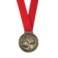 Red Olympia Ribbon and free engraving on all medals