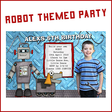 PARTIES Robot Party Little Dance All Things Party Print – Robot Party Invitations