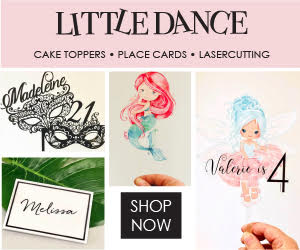 Little Dance : Custom Cake Toppers - Banners - Chocolate Bars - Party Supplies
