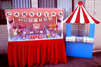 Carnival Themed Birthday Party - Little Dance - All Things Party & Print