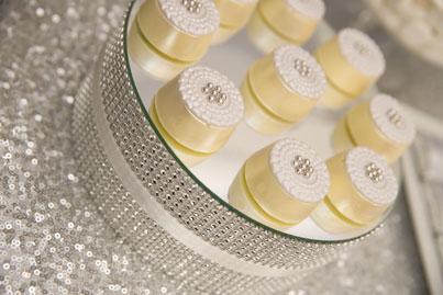 Metallic, Silver and Sequin Wedding Dessert Table - Little ...