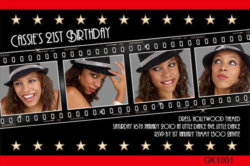 Hollywood Themed Birthday Invitations For Sale Hollywood Party
