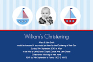 Nautical Sailboard Baptism & Christening Invitations