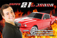 Hotrod Birthday Party Invitations