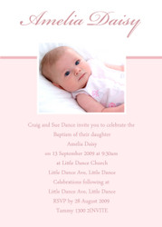 Pink Baptism Naming & Christening Invitations
