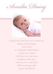 Pink Baptism Naming & Christening Invitations
