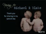 twins Baptism Naming & Christening Invitations