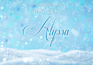 Personalised birthday party backdrop. Frozen inspired. Order online in Australia