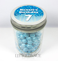 Personalised mason jar birthday party favours for sale online - Blue Balloons theme