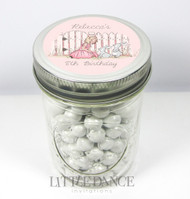 Personalised mason jar birthday party favours for sale online - Bunny At The Gate theme