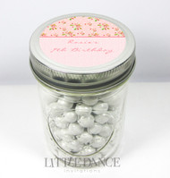 Personalised mason jar birthday party favours for sale online -Pretty Pink Floral theme