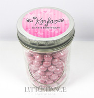 Personalised mason jar birthday party favours for sale online -Sweetheart theme