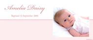 Christening & Baptism Banner - Elegant Pink