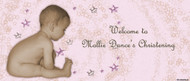 Christening & Baptism Banner - Little Girl Stars