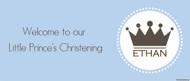 Christening & Baptism Banner - Little Prince