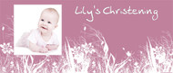 Christening & Baptism Banner - Pink Field