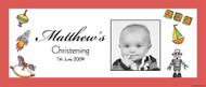 Christening & Baptism Banner - Retro Vintage Toys