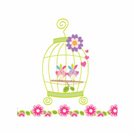 Birdcage Bedroom Wall Canvas Art