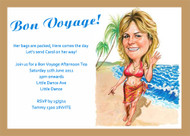 Bon Voyage Personalised Cariacture Party Invitation