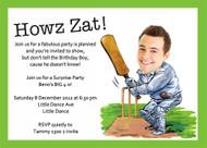 Cricket Birthday Party Invitation