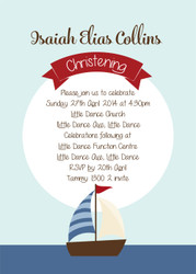 Nautical Christening & Baptism Invitations