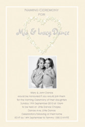 Diamons and Cream Baptism Naming and Christening Invitations