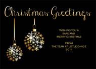 Black Elegant Christmas Party Invitations & Christmas Greeting Cards